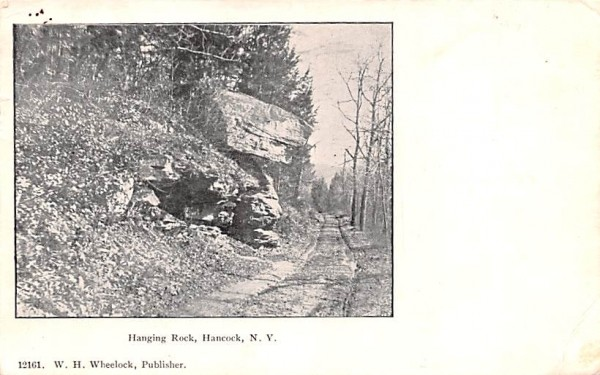 Hanging Rock Hancock, New York Postcard