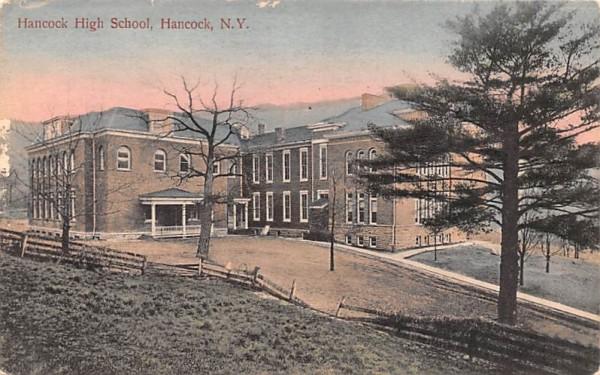 Hancock High School New York Postcard