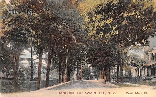 West Main Street Hancock, New York Postcard