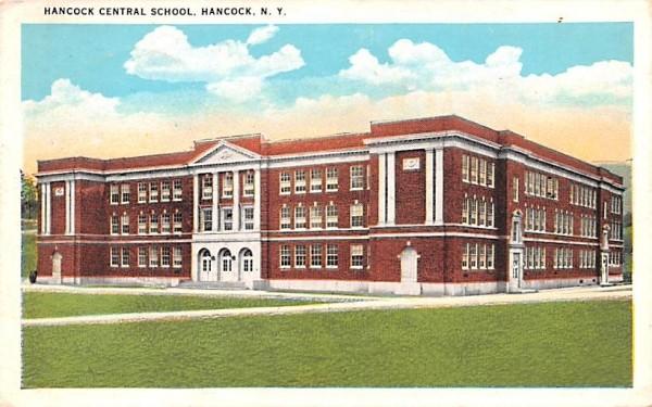 Hancock Central School New York Postcard