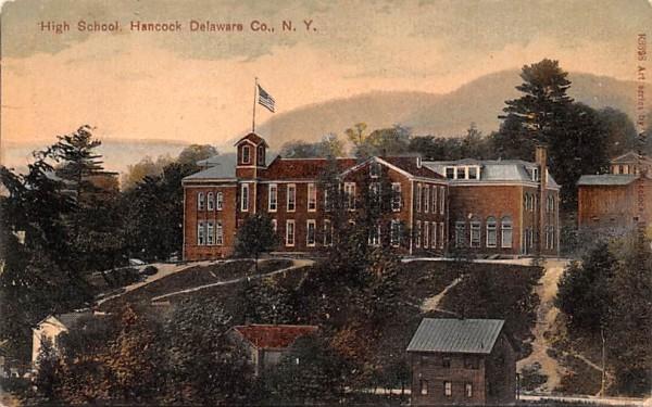High School Hancock, New York Postcard