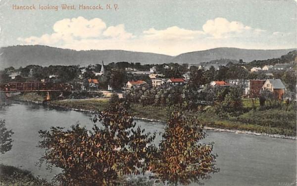 Hancock Looking West New York Postcard