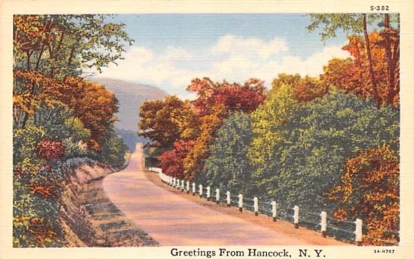 Greetings from Hancock, New York Postcard