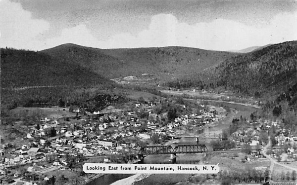 Looking East from Point Mountain Hancock, New York Postcard
