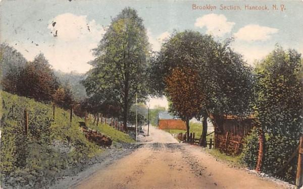 Brooklyn Section Hancock, New York Postcard