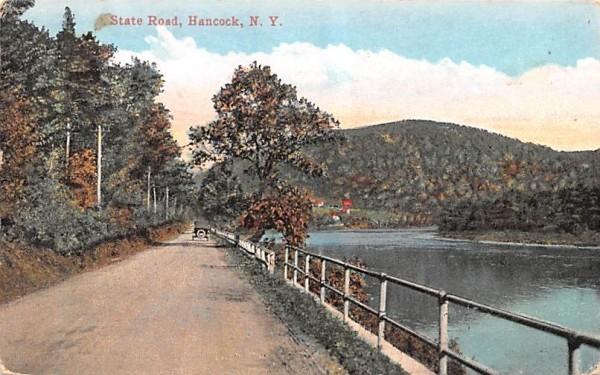 State Road Hancock, New York Postcard