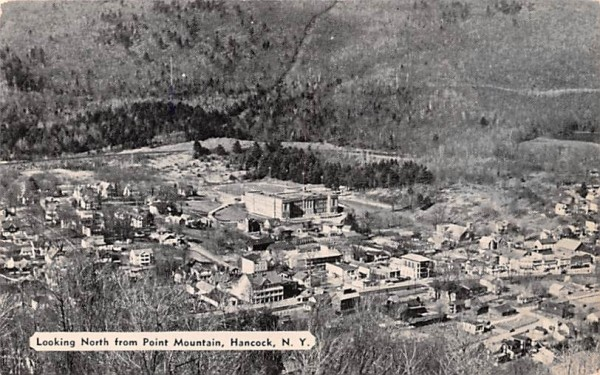 Looking North from Point Mountain Hancock, New York Postcard