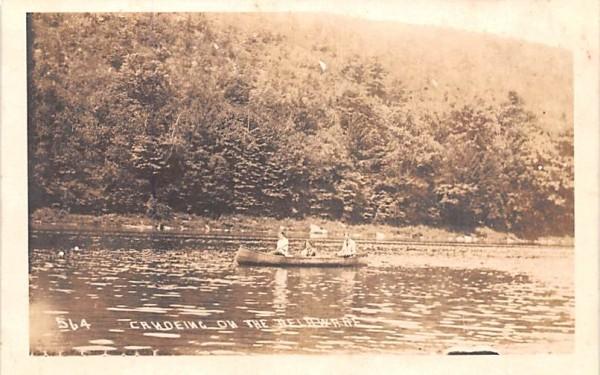 Canoeing on the Delaware Hancock, New York Postcard