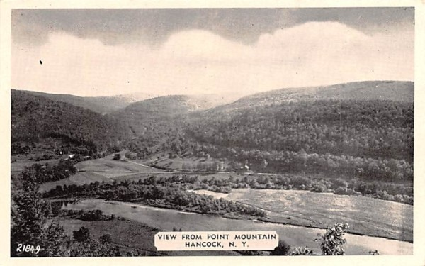 View from Point Mountain Hancock, New York Postcard