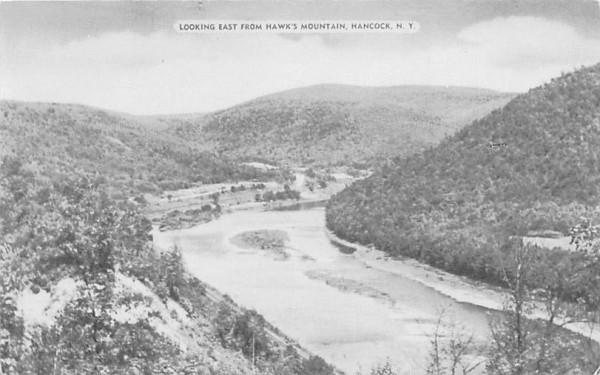 Looking East from Hawk's Mountain Hancock, New York Postcard