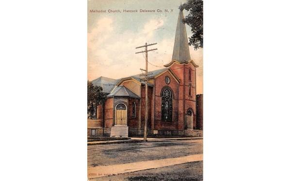 Methodist Church Hancock, New York Postcard