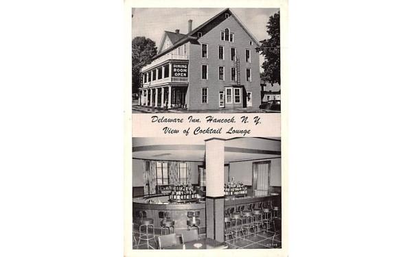 Delaware Inn Hancock, New York Postcard