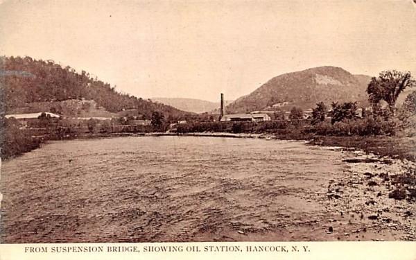 From Suspension Bridge Hancock, New York Postcard