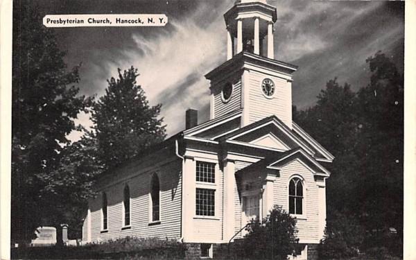 Presbyterian Church Hancock, New York Postcard