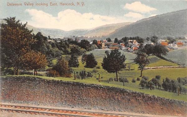 Delaware Valley looking East Hancock, New York Postcard