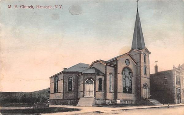 ME CHurch Hancock, New York Postcard