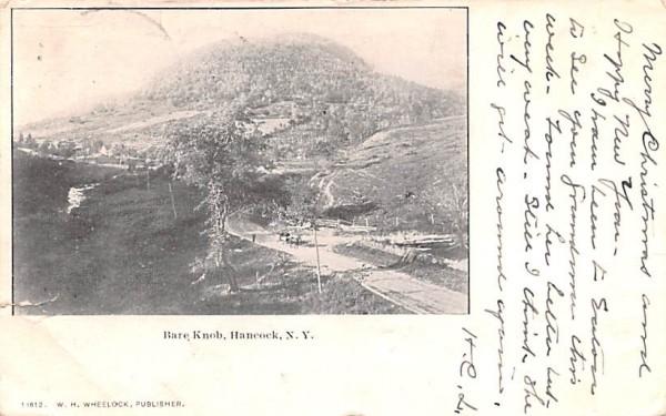 Bare Knob Hancock, New York Postcard