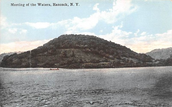 Meeting of the Waters Hancock, New York Postcard