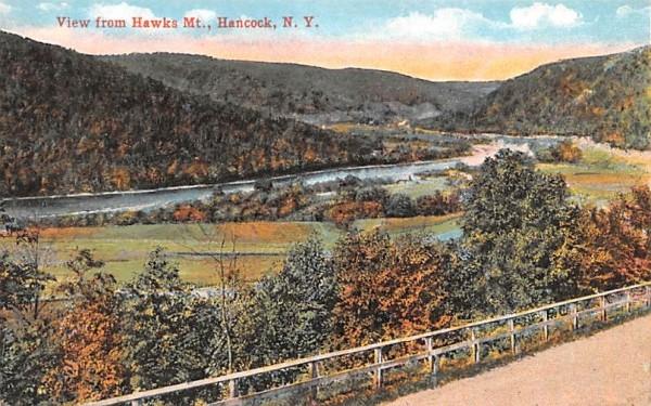 View from Hawks Mountain Hancock, New York Postcard