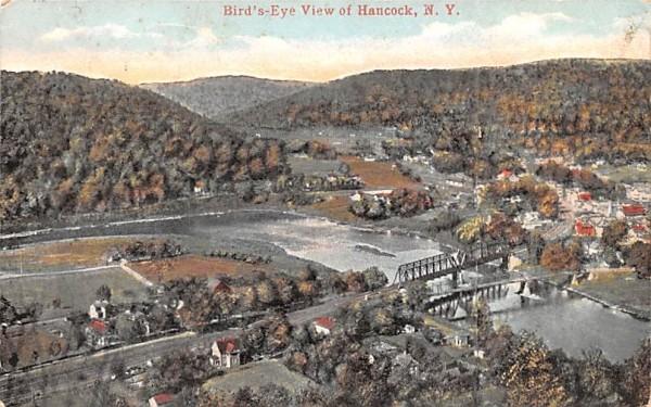 Bird's Eye View Hancock, New York Postcard