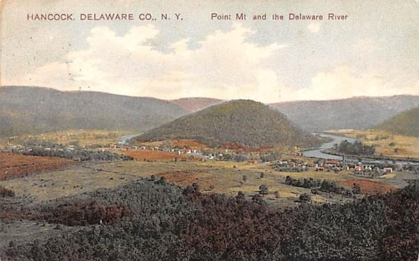 Point Mountain & Delaware River Hancock, New York Postcard