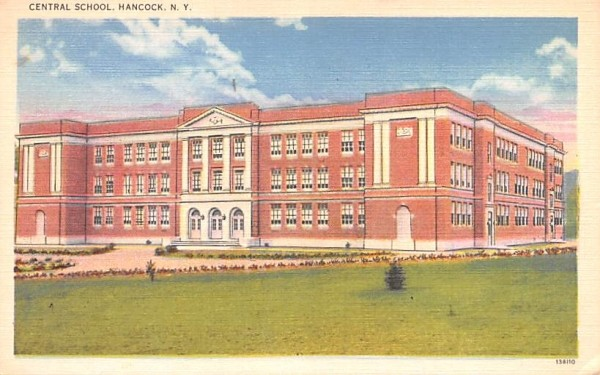 Central School Hancock, New York Postcard