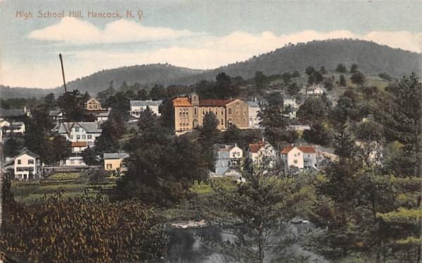 High School Hill Hancock, New York Postcard