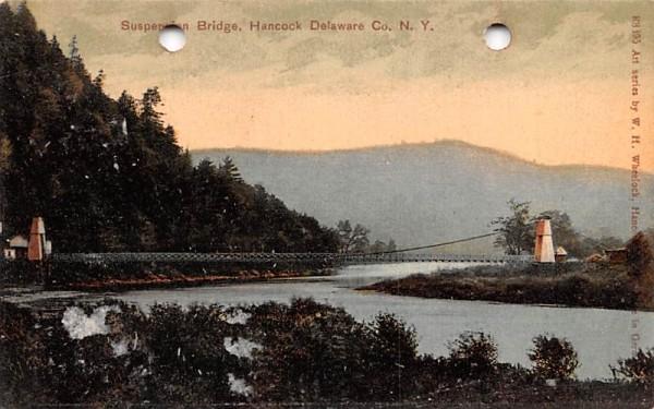 Suspension Bridge Hancock, New York Postcard