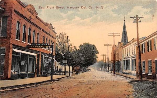 East Front Street Hancock, New York Postcard