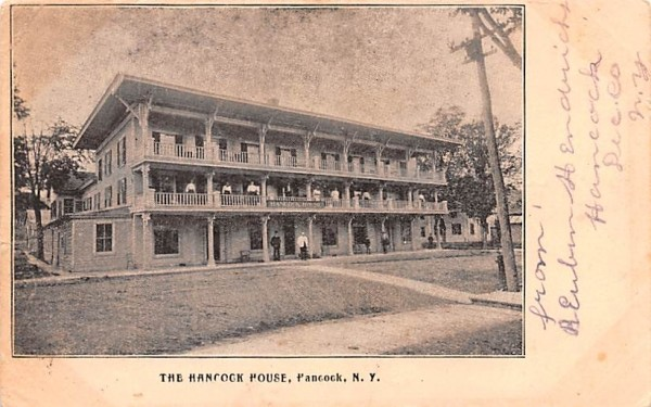 Hancock House New York Postcard