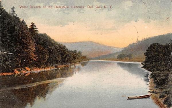 West Branch of the Delaware River Hancock, New York Postcard