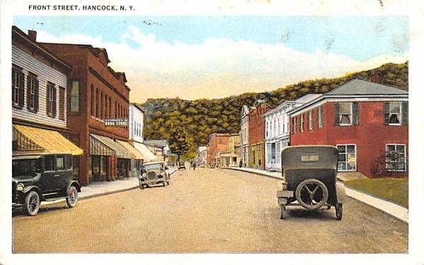 Front Street Hancock, New York Postcard