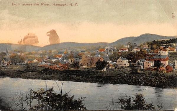 From across the River Hancock, New York Postcard