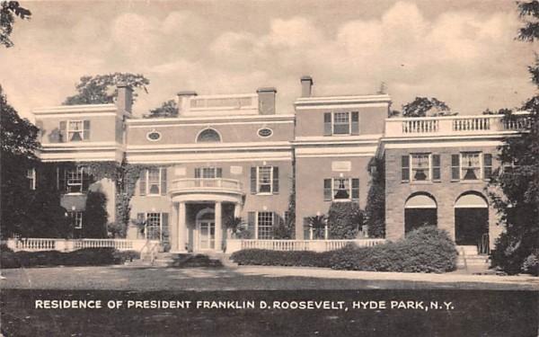 Residence of President Franklin D Roosevelt Hyde Park, New York Postcard