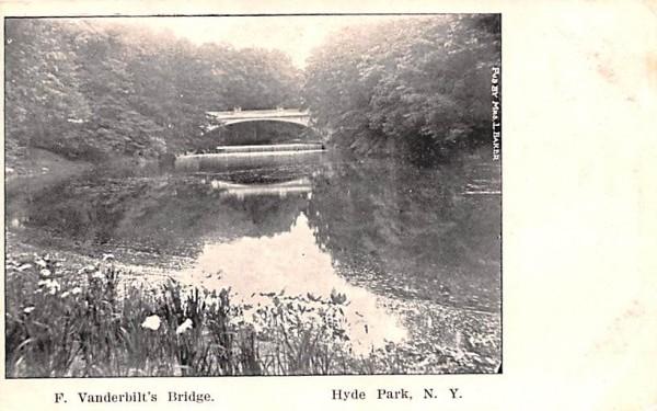F Vanderbilt's Bridge Hyde Park, New York Postcard