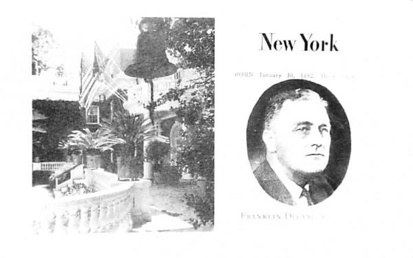 Franklin Delano Roosevelt Hyde Park, New York Postcard