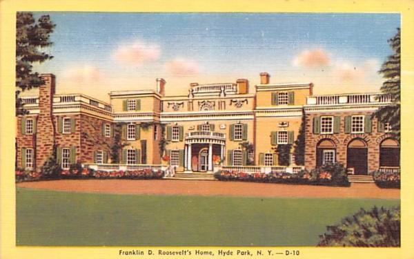 Franklin D Roosevelt's Home Hyde Park, New York Postcard