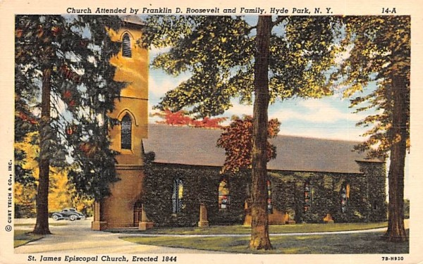Church Attended by Franklin D Roosevelt and Family Hyde Park, New York Postcard