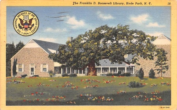 Franklin D Roosevelt Hyde Park, New York Postcard