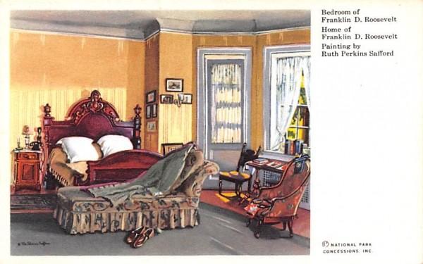 Bedroom of Franklin D Roosevelt Hyde Park, New York Postcard