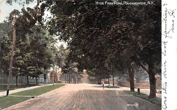 Hyde Park Road New York Postcard