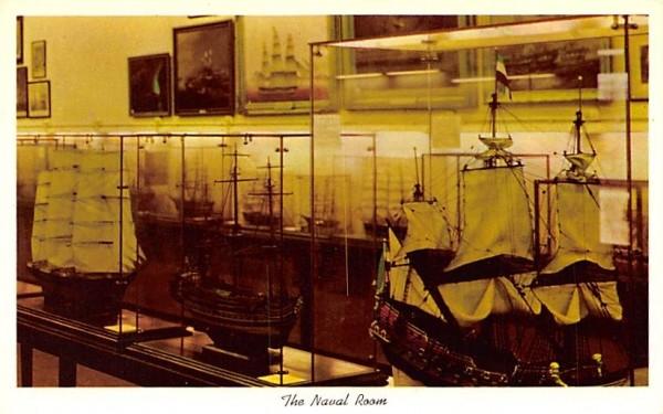 Naval Room Hyde Park, New York Postcard