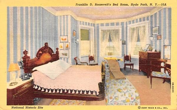 Franklin D Roosevelt Bedroom Hyde Park, New York Postcard