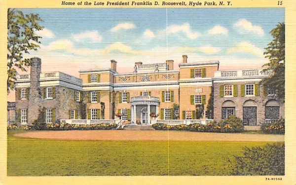 Home of the Late President Franklin D Roosevelt Hyde Park, New York Postcard
