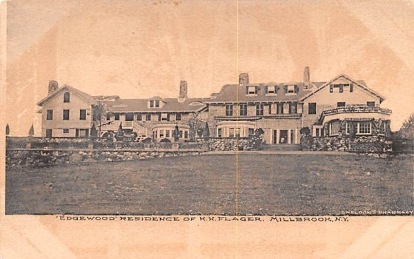 Edgewood Residence of H Harkness Flagler Hyde Park, New York Postcard
