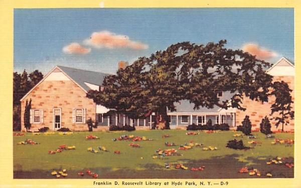 Franklin D Roosevelt Library Hyde Park, New York Postcard