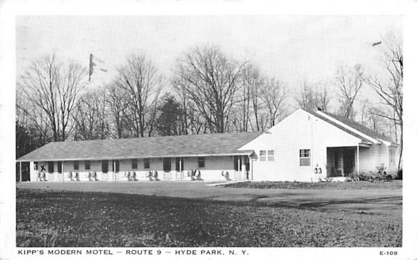 Kipp's Modern Motel Hyde Park, New York Postcard