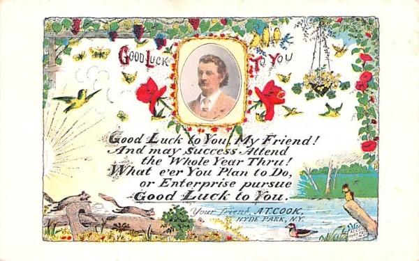Good Luck Hyde Park, New York Postcard