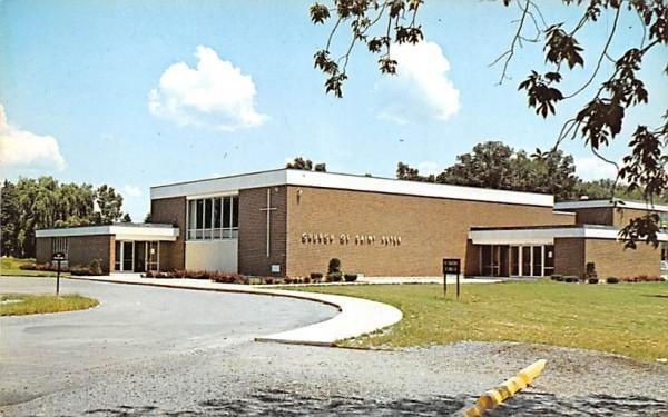 Church & School of Saint Peter Hyde Park, New York Postcard