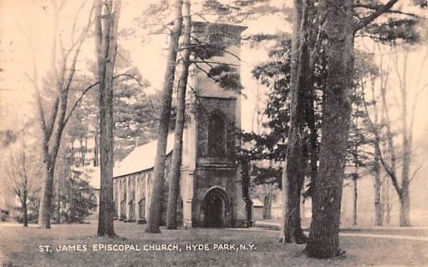 St James Episcopal Church Hyde Park, New York Postcard